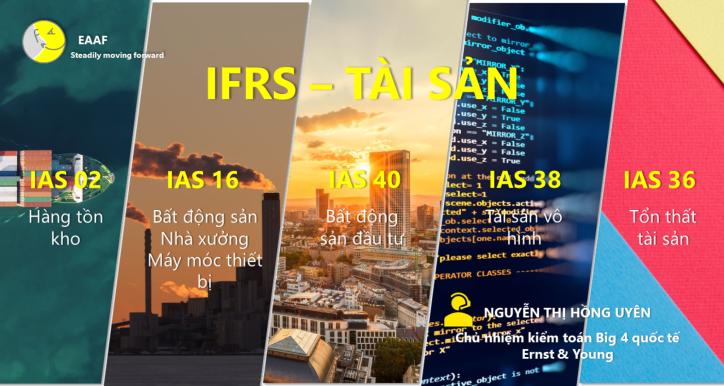 IFRSE02 - Nhóm chuẩn mực IFRS áp dụng phổ biến về tài sản: Hàng tồn kho (IAS02), Bất động sản, nhà xưởng, máy móc thiết bị (IAS16), Bất động sản đầu tư (IAS40), Tài sản vô hình (IAS38), Tổn thất tài sản (IAS36)