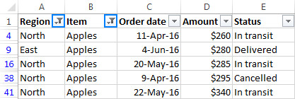 Hướng dẫn cách sử dụng bộ lọc dữ liệu Filter trong Excel