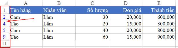 hướng dẫn cách sửa lỗi filter trong excel bị Ẩn dòng không unhide Được - in4tintuc - trang tổng hợp online