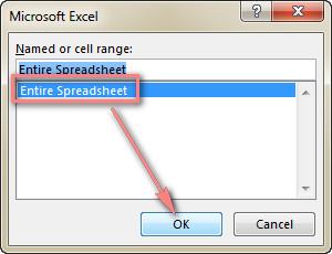 Click Entire Spreadsheet.