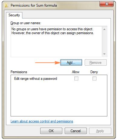 thêm tài khoản cho phép chỉnh sửa file excel