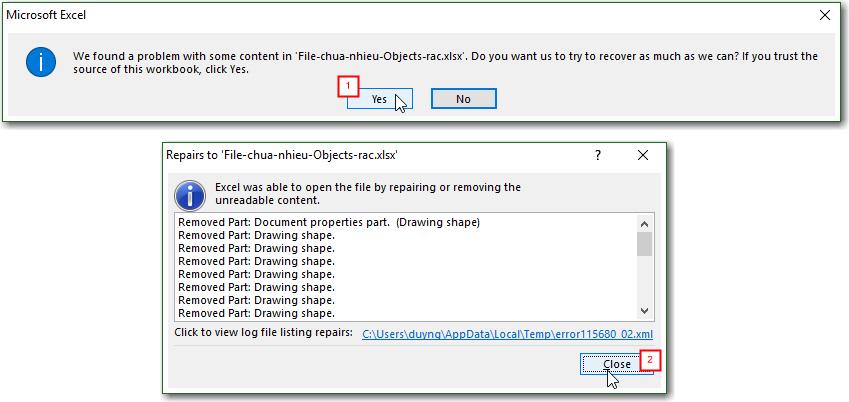 Hướng dẫn cách sửa file Excel bị nặng chậm, và gỡ bỏ mật khẩu bảo vệ file 11