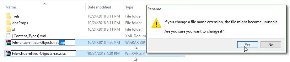 Hướng dẫn cách sửa file Excel bị nặng chậm, và gỡ bỏ mật khẩu bảo vệ file 14