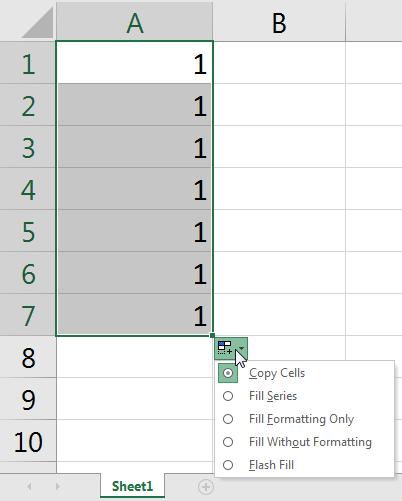 Cách tổng hợp các tính năng Fill trong Excel (phần 1)